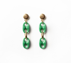 Txine Green Short Earrings
