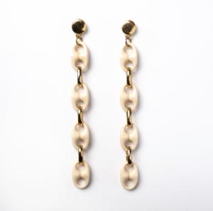 Txine White Long Earrings