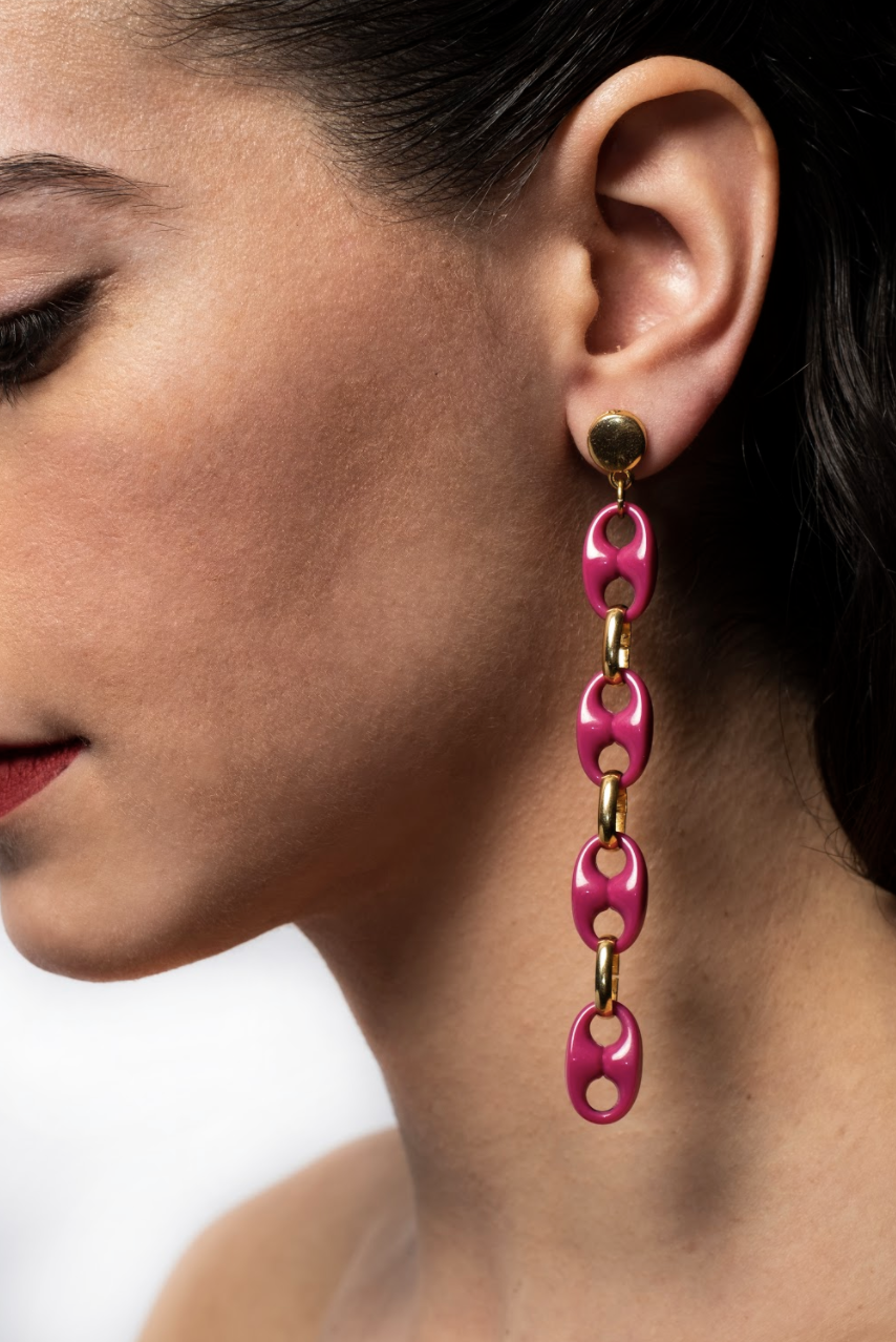 Txine Pink Earrings Long Model